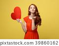 Portrait of happy romantic young caucasian girl 39860162