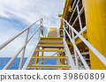 Staircase on oil and gas plant. offshore plateform 39860809