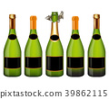 champagne bottle isolated on white 39862115