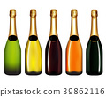Champagne bottle isolated on white 39862116