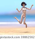 여성, 리조트, 밝은 39862562