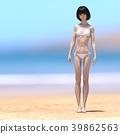 여성, 리조트, 밝은 39862563