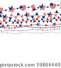 USA flag design on white background 39864440