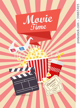 Movie time poster design 39865405