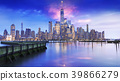 amazing view lower Manhattan financial district 39866279