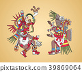 Quetzalcoatl and Tezcatlipoca, Aztec gods 39869064