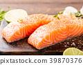 三文鱼 鲑鱼 柠檬 39870376