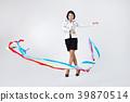 비즈니스우먼,한국인,여자,리본,응원 39870514