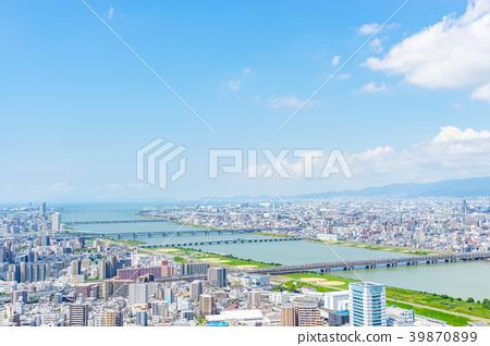 【오사카】 도시 풍경 39870899