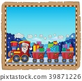 Parchment with Christmas train theme 3 39871226