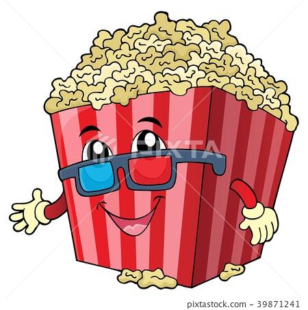 Stylized popcorn theme image 1 39871241