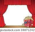 popcorn, curtain, stage 39871242