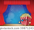 popcorn, curtain, stage 39871243