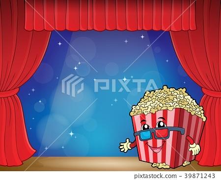 Stylized popcorn theme image 3 39871243