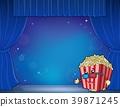 popcorn, corn, stylized 39871245