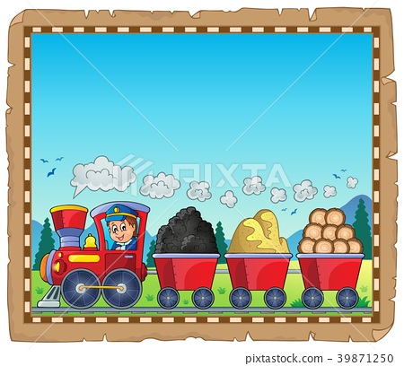 Train with various materials parchment 1 39871250