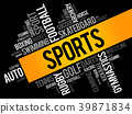 Sports word cloud collage 39871834