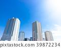與塔公寓和大廈的都市風景 39872234