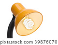 Table lamp on the white background 39876070