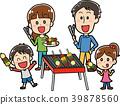 바베큐를하는 가족의 일러스트 소재 39878560