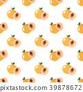 apricot, seamless, pattern 39878672