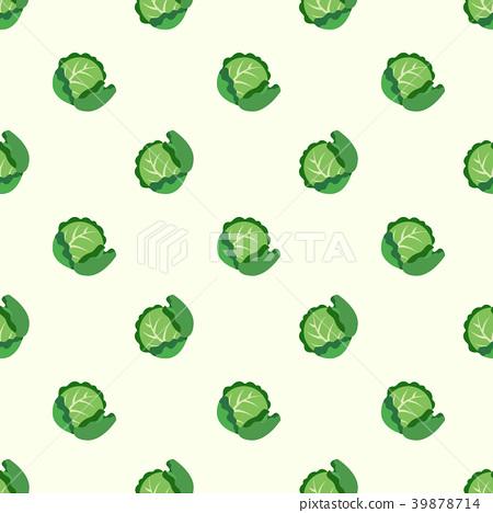 Seamless background vegetable food ingredient 39878714