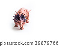 Dinosaurs toy on white isolated background 39879766