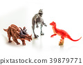 Dinosaurs toy on white isolated background 39879771