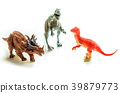 Dinosaurs toy on white isolated background 39879773