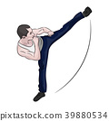 vector, kick, male 39880534