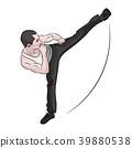 karate training kick 39880538