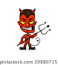 devil cartoon character sports  39880715