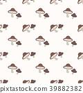 Boletus mushroom seamless 39882382