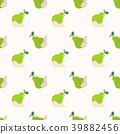 green, pear, seamless 39882456