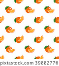 Seamless background tropical organic fruit 39882776