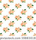 orange hibiscus seamless 39883018
