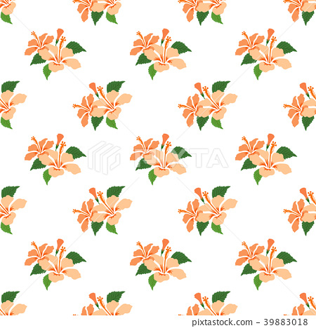 Seamless background botanic flower leaf plant 39883018