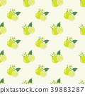 Seamless background tropical organic fruit 39883287