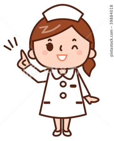Nurse pointing 39884018