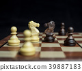 Chess game battle between knights, competition co 39887183