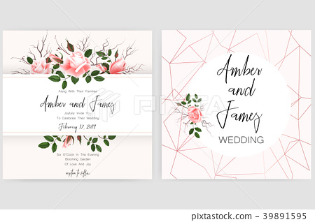 Save The Date Card Wedding Invitation Greeting Stock