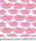 Bright floral seamless design with pink flowers 39891658