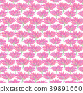 Bright floral seamless design with pink flowers 39891660
