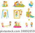 kid, playground, vector 39892059