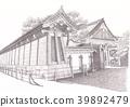 nijo castle, world heritage, castle 39892479