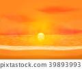 Quiet dawn sea view background 39893993