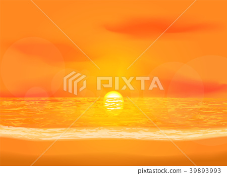 Quiet dawn sea view background 39893993