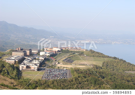 APU (리쓰 메이 칸 아시아 태평양 대학)을 거꾸로 파도있는 십자형 원 전망대 바랬다 한 장입니다. 야경도 깨끗합니다 일본 39894893