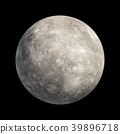 3D Rendering Planet mercury isolated on black 39896718