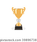 Trophy gold cup flat design on a white background 39896738
